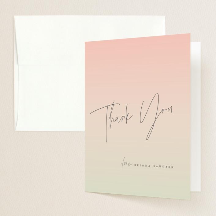 """Vintage Snapshot"" - Graduation Thank You Cards in Sage by Grace Kreinbrink."