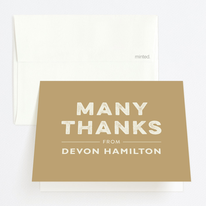 """""""Vintage Sweet Potato"""" - Bold typographic, Simple Graduation Thank You Cards in Mocha by Erin Niehenke."""