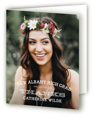 Class Graduation Announcement Thank You Cards