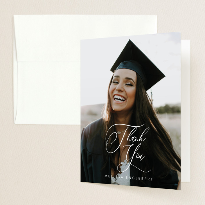 """""""Impression"""" - Graduation Thank You Cards in Winter by Itsy Belle Studio."""