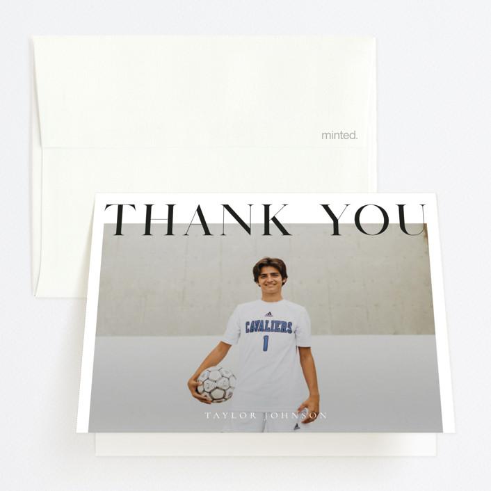 """Bold headline"" - Graduation Thank You Cards in Cloud by Kann Orasie."