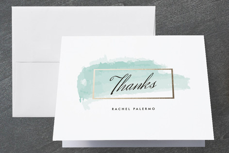 Gold Charm Graduation Thank You Cards