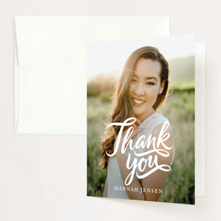 Brush Grad Graduation Thank You Cards