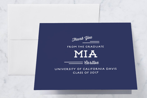 Hipster Graduation Thank You Cards By Lauren Chism  Minted