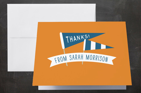 Lettered Class Graduation Thank You Cards