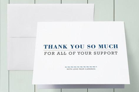 Year in Review Graduation Thank You Cards