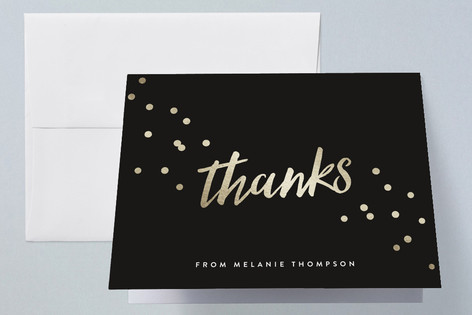 Confetti Party Graduation Thank You Cards