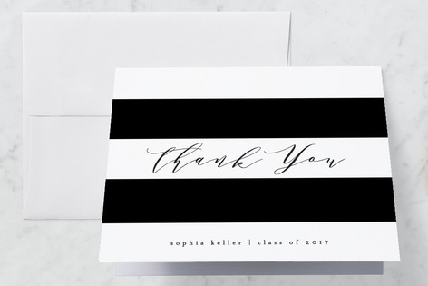 Simplicity Graduation Thank You Cards