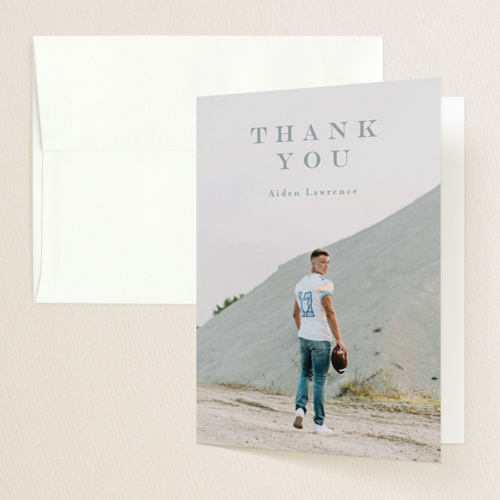 """Classy"" - Graduation Thank You Cards in Dust by Anastasia Makarova."