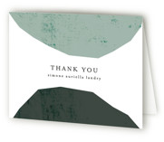 This is a green graduation thank you card by Morgan Kendall called Semi Circles with standard printing on strathmore in standard.