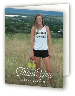 Follow Your Path Graduation Announcement Thank You Cards