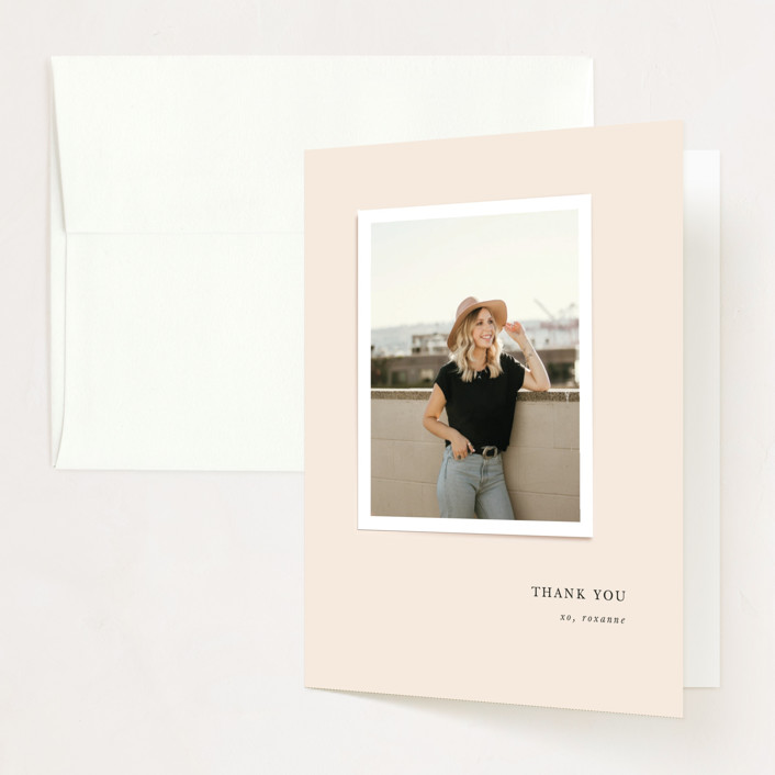 """""""small snap"""" - Graduation Thank You Cards in Blush by Lori Wemple."""