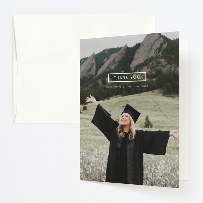 """Digital Style"" - Graduation Thank You Cards in Cloud by Kann Orasie."