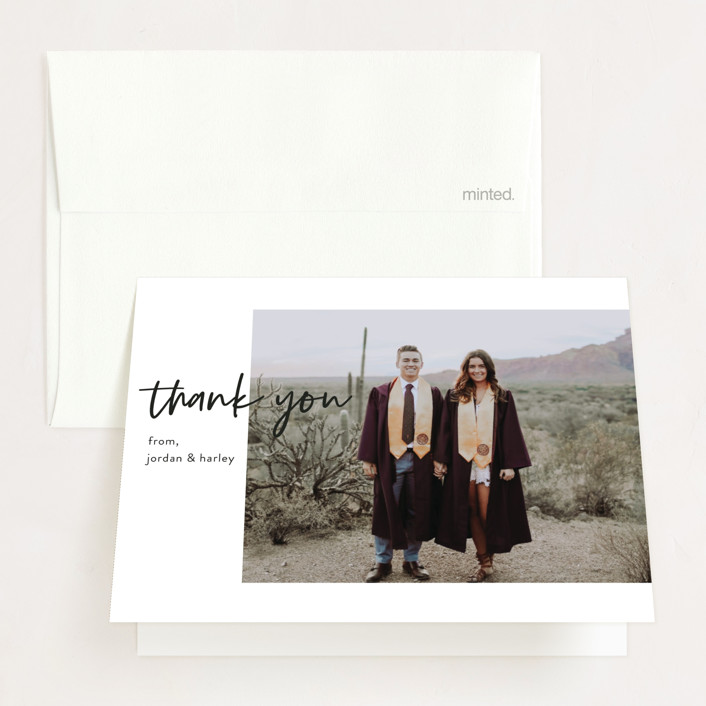 """Made It!"" - Graduation Thank You Cards in Ivory by Kristel Torralba."