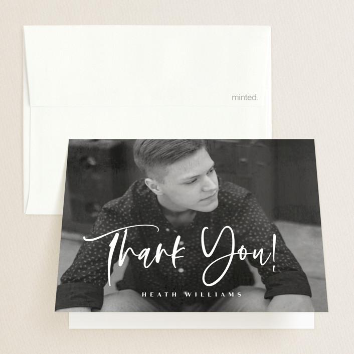 """Name 101"" - Modern Graduation Thank You Cards in Silk by Anna Elder."