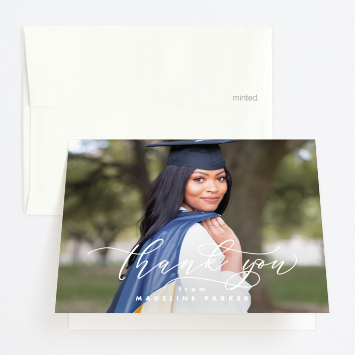 """""""Honored"""" - Graduation Thank You Cards in Paper by Lea Delaveris."""