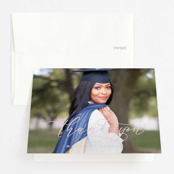 """Honored"" - Graduation Thank You Cards in Paper by Lea Delaveris."