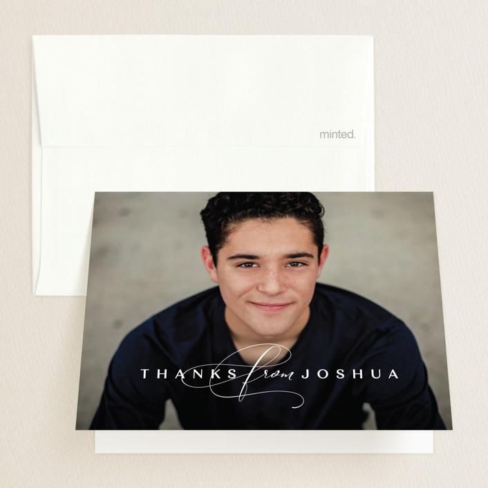 """""""Forward"""" - Graduation Thank You Cards in Chalk by Lea Delaveris."""
