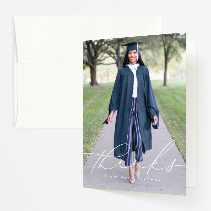 """DUO"" - Graduation Thank You Cards in Penguin by Lea Delaveris."