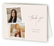This is a beige graduation thank you card by Ekko Studio called Snapshot Collage with standard printing on strathmore in standard.