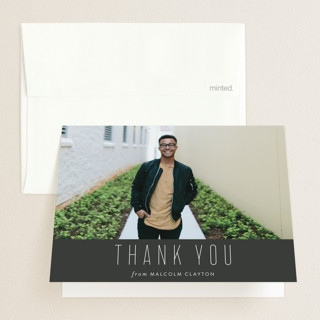 Sharp Graduation Thank You Cards