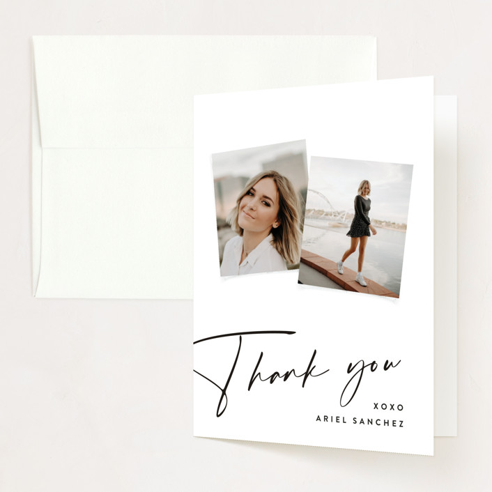 """""""Signatory"""" - Graduation Thank You Cards in Heron by Rebecca Daublin."""