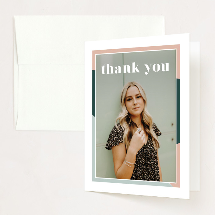 """""""Up Next"""" - Graduation Thank You Cards in Sorbet by Danie Romrell."""
