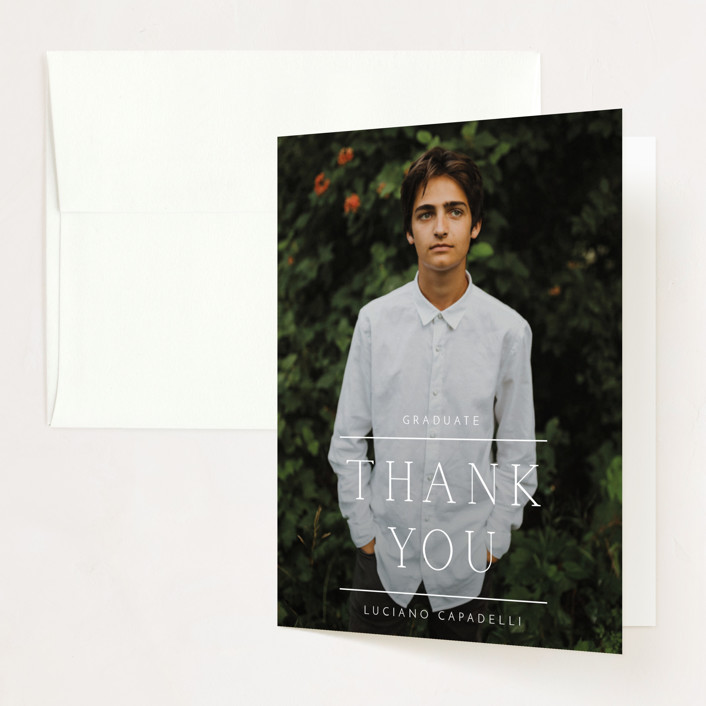 """""""Between The Lines"""" - Graduation Thank You Cards in Fresh by Kaydi Bishop."""