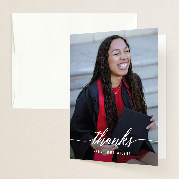 """""""Simple Style"""" - Graduation Thank You Cards in Cotton by Simona Camp."""