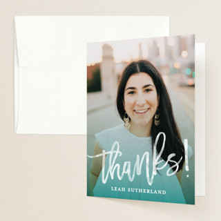 Modern Ombre Graduation Thank You Cards