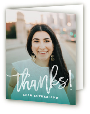 Modern Ombre Graduation Announcement Thank You Cards