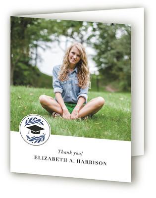 Laurel Graduation Announcement Thank You Cards