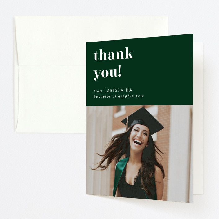 """""""Fancy"""" - Graduation Thank You Cards in Fir by Catherine Culvenor."""