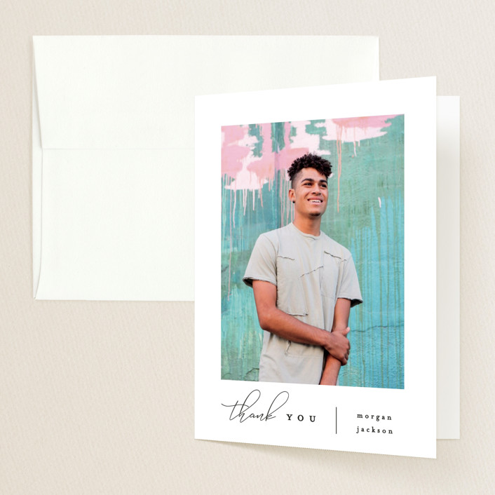 """""""Photo Reel"""" - Graduation Thank You Cards in Cotton by Everett Paper Goods."""