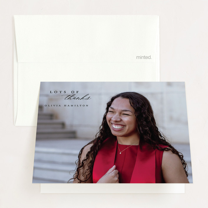 """""""Shine Bright"""" - Graduation Thank You Cards in Blackboard by Hudson Meet Rose."""