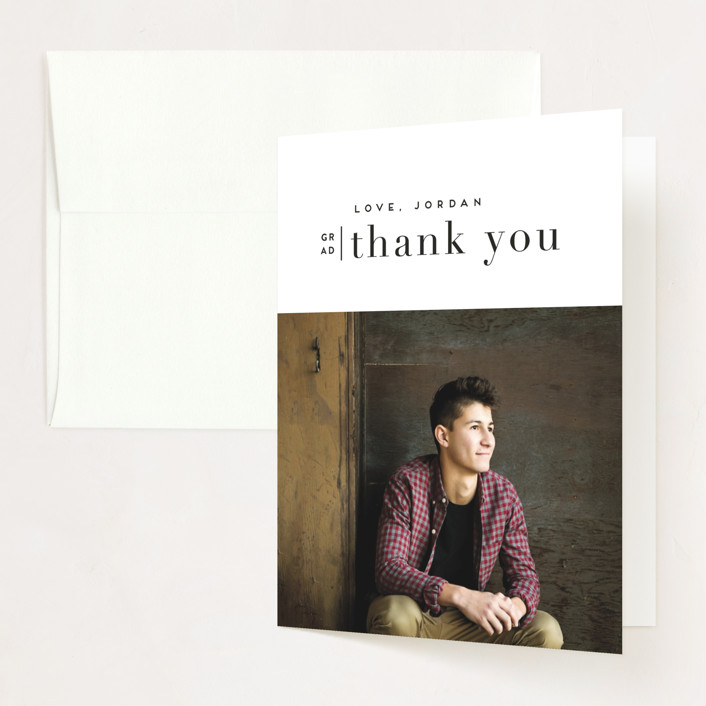 """""""butterscotch"""" - Graduation Thank You Cards in Pearl by chocomocacino."""