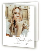 This is a brown graduation thank you card by chocomocacino called Lotus with standard printing on strathmore in standard.