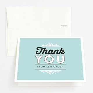 Typographic Party Graduation Thank You Cards