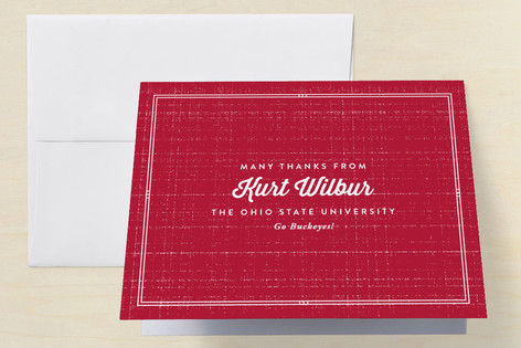 University Graduation Thank You Cards