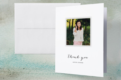 Year in My Life Graduation Thank You Cards