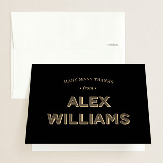 Wood Grain Graduation Thank You Cards
