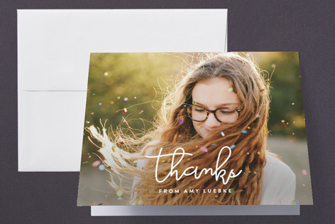Yearly Script Graduation Thank You Cards