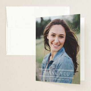 Grad Chart Graduation Thank You Cards