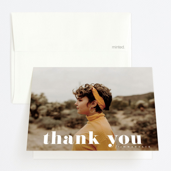 """""""Grad Year"""" - Graduation Thank You Cards in Moon by Heather Cairl."""