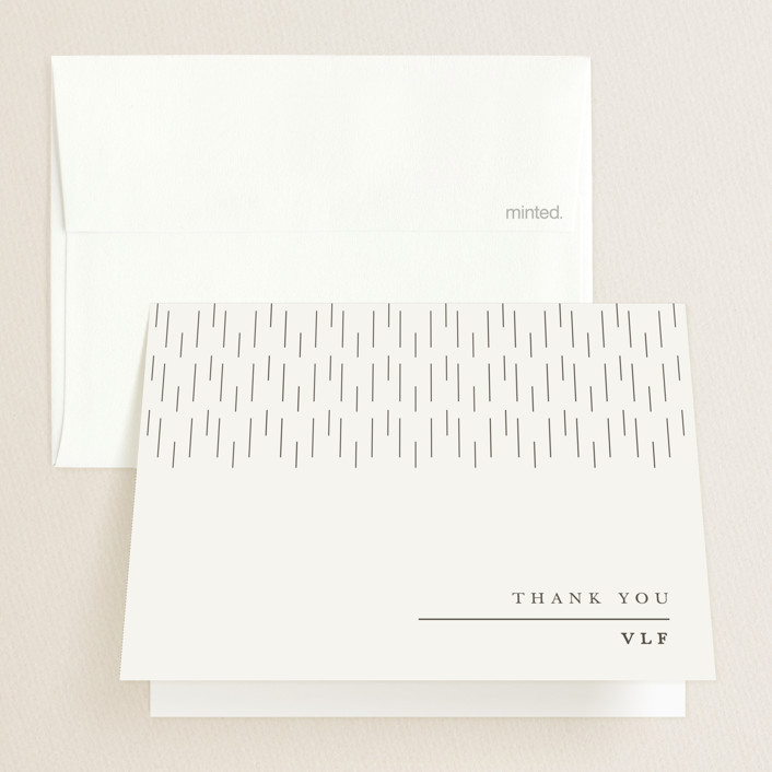 """Sage"" - Graduation Thank You Cards in Nude by Creative Parasol."