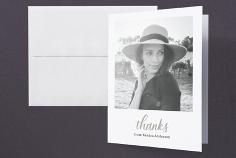 Square Graduation Thank You Cards
