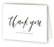 This is a grey graduation thank you card by Julie Murray called Graduate scripted with standard printing on strathmore in standard.
