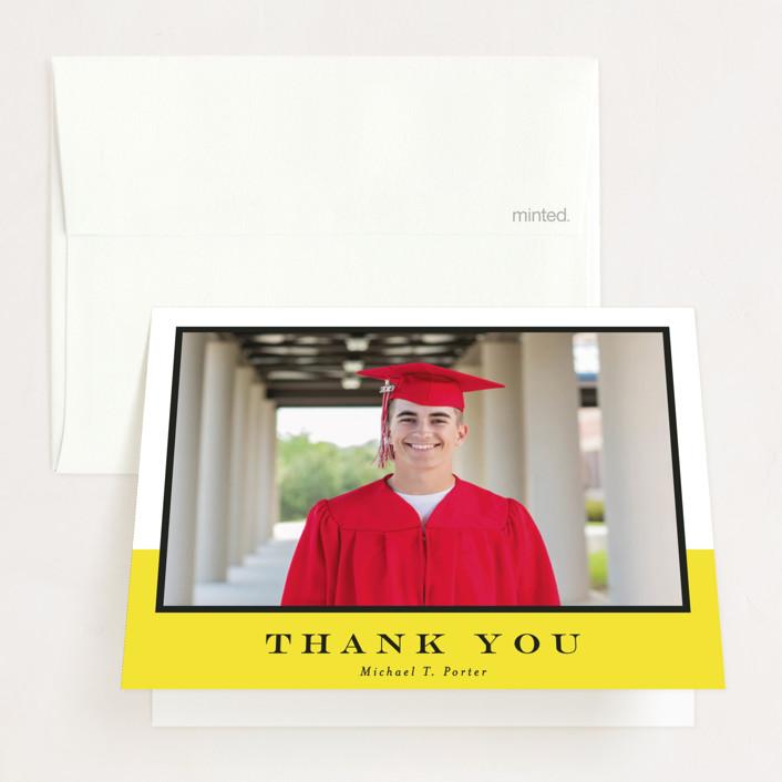 """Virginia Beach"" - Graduation Thank You Cards in Ebony by Meagan Christensen."