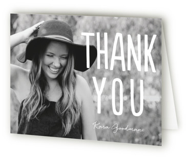Centered Graduate Graduation Announcement Thank You Cards