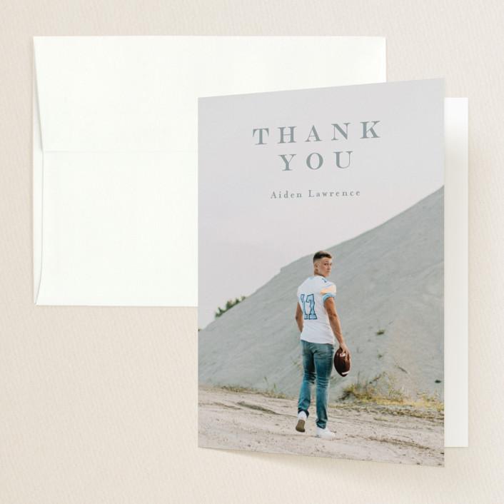 """Classy"" - Graduation Thank You Cards in Dust by Anastasia Makarova."